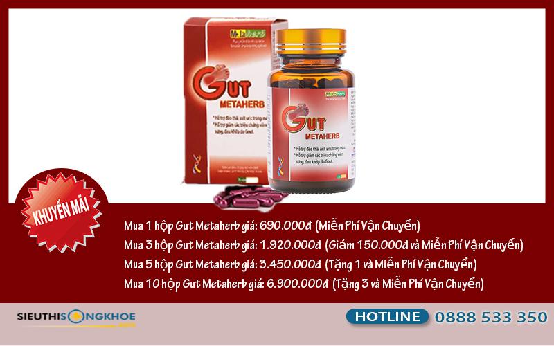 giá viên giảm đau gut metaherb