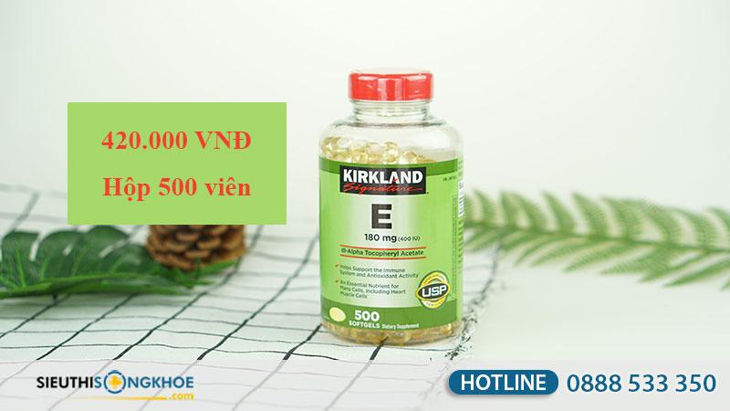 kirkland vitamin e 400 iu gia bao nhieu