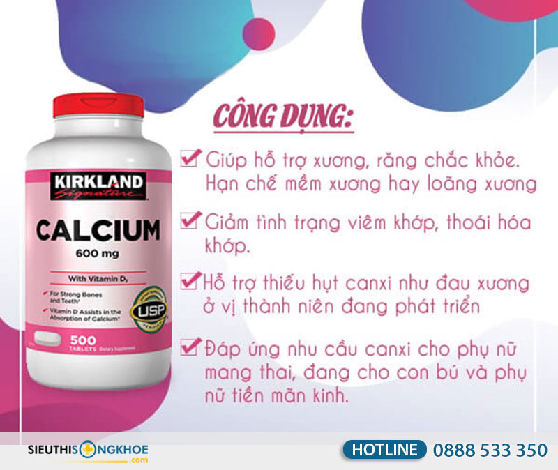 vien bo sung canxi kirkland calcium 600mg mua o dau