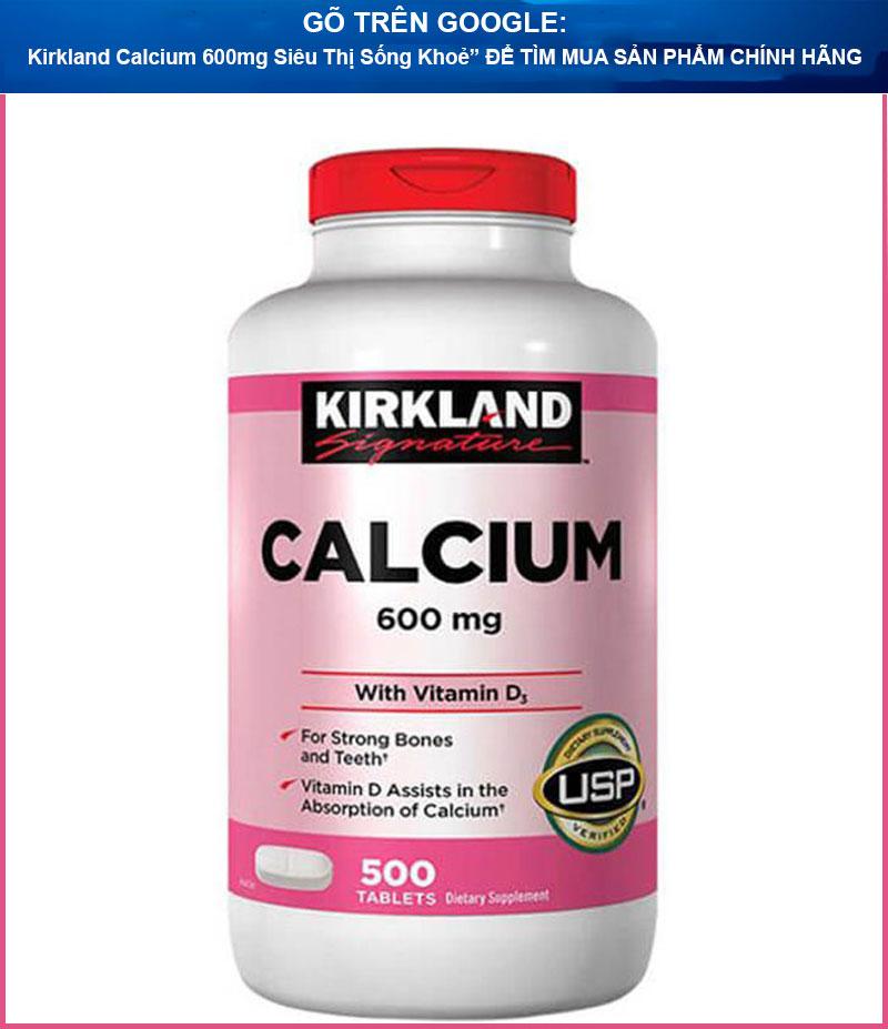 vien bo sung canxi kirkland calcium 600mg sieu thi song khoe