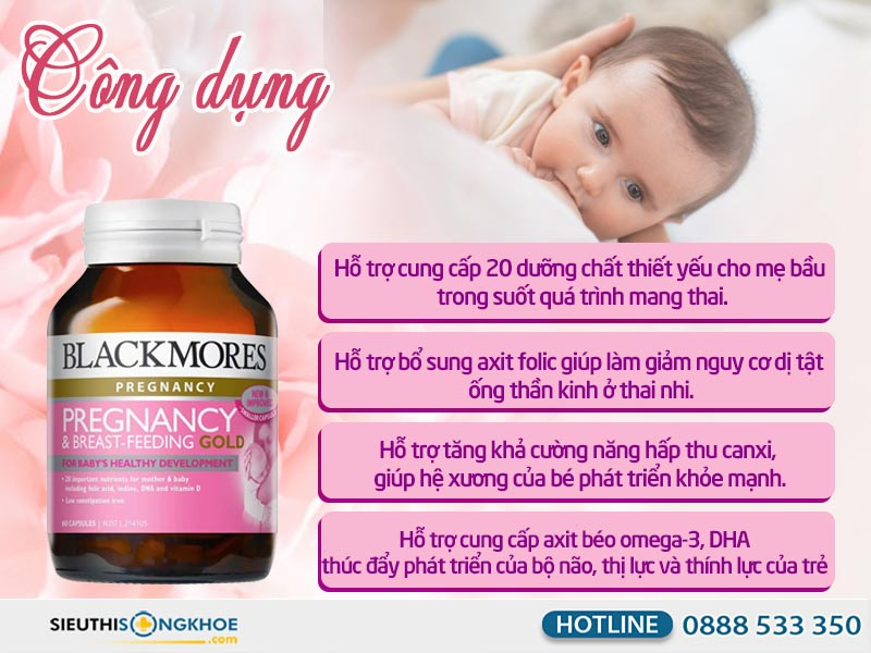 công dụng của blackmores pregnancy breast feeding gold