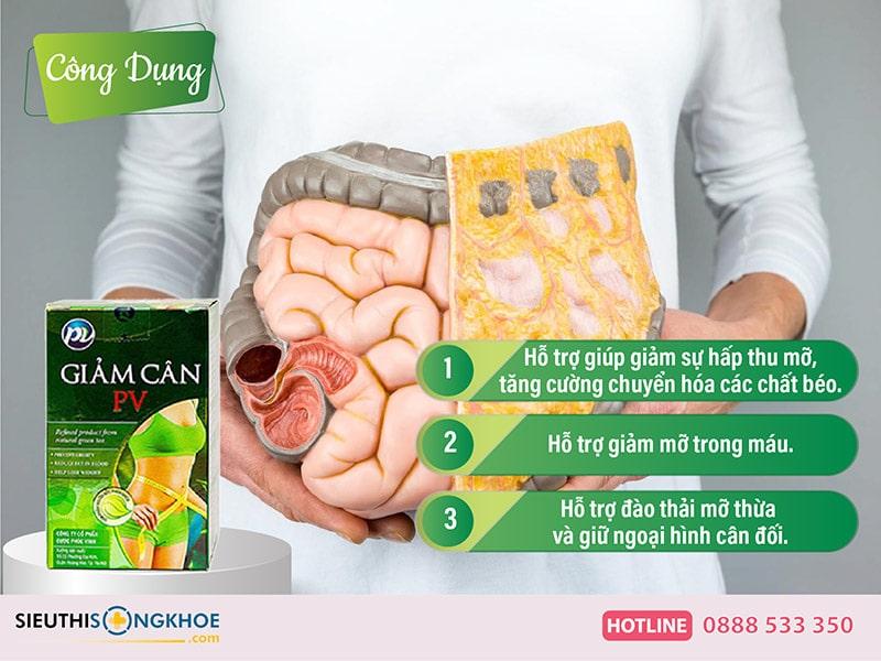công dụng của giảm cân pv