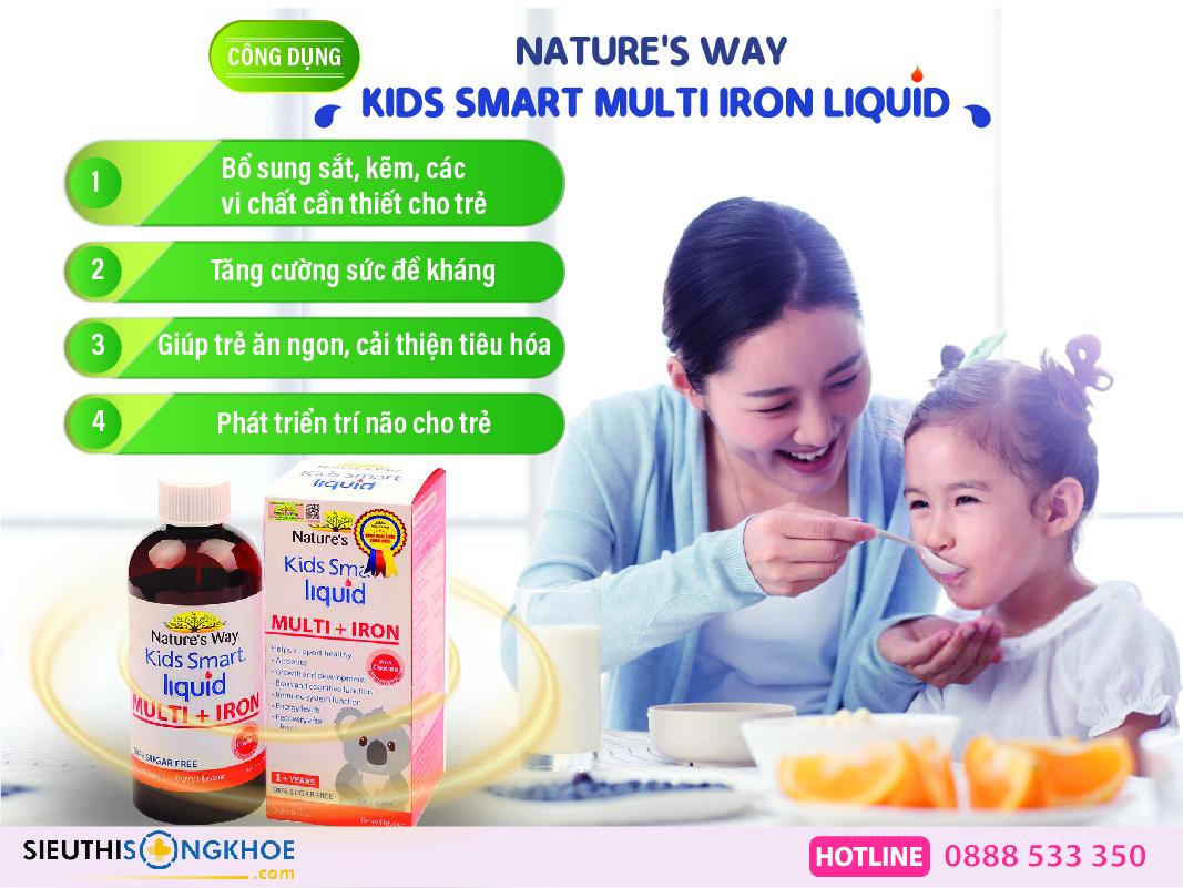 cong dung nature's way kids smart multi iron + liquid