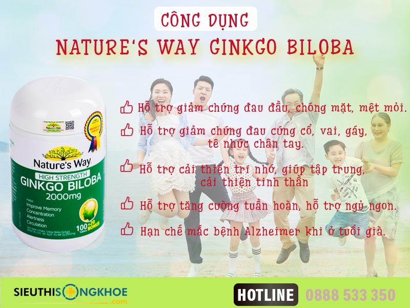 cong dung vien bo nao nature's way ginkgo biloba 2000mg