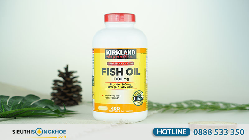dau ca kirkland signature fish oil 1000mg mua o dau