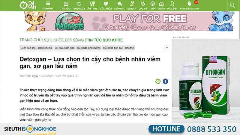 báo 24h đưa tin detoxgan