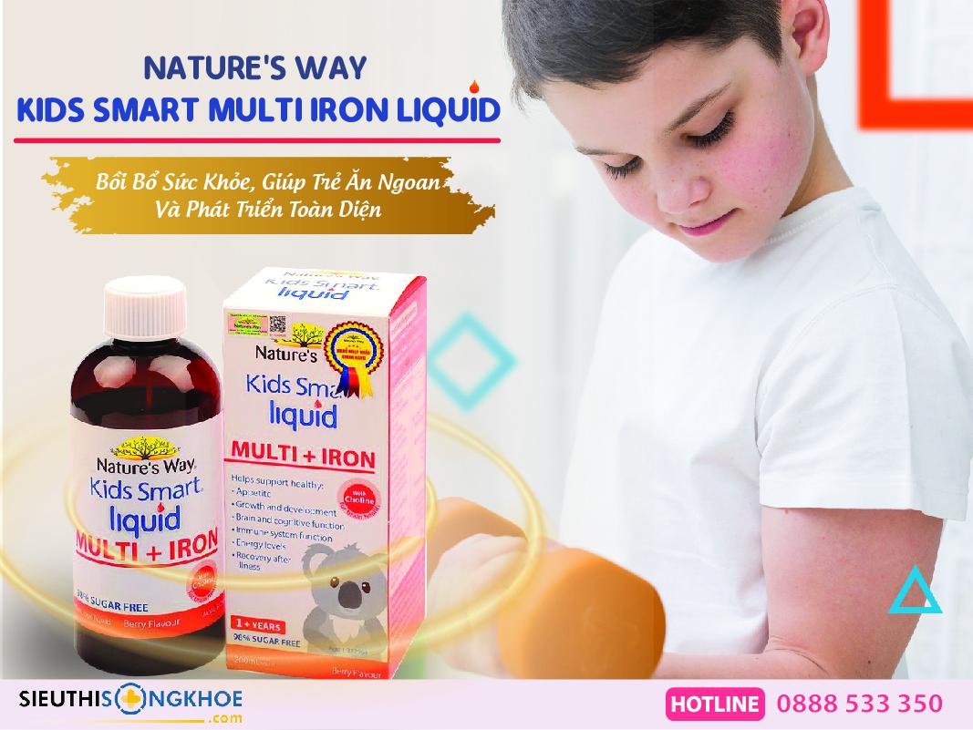 siro bo sat nature's way kids smart multi iron + liquid
