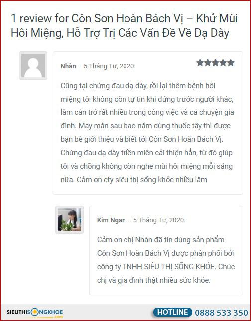 Côn Sơn Hoàn Bách Vị giá bao nhiêu