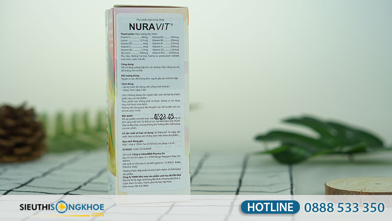 thanh phan cua nuravit