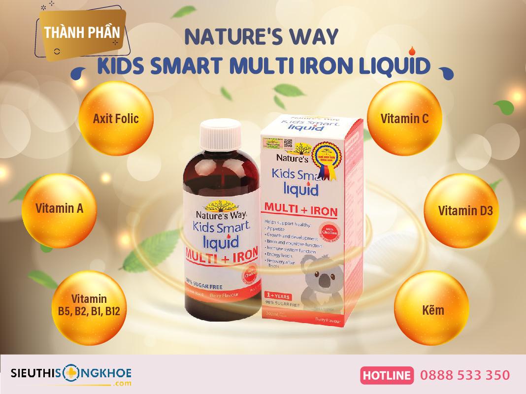 thanh phan nature's way kids smart multi iron + liquid