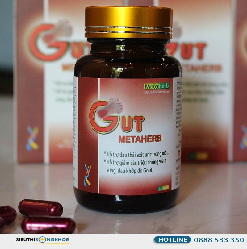 thành phần viên giảm đau gut metaherb