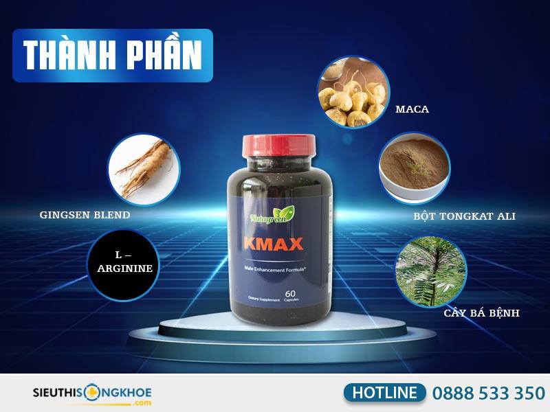 thành phần của viên uống kmax