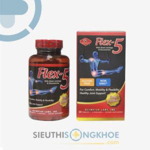 Flex 5 – Viên Uống Hỗ Trợ Tái Tạo Sụn Khớp, Đẩy Lùi Những Cơn Đau Xương Khớp Hiệu Quả