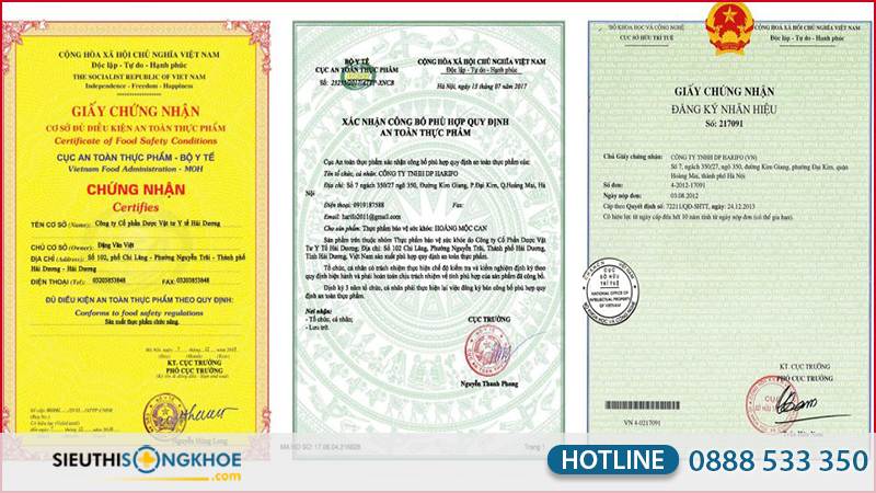 giấy chứng nhận hoàng mộc can