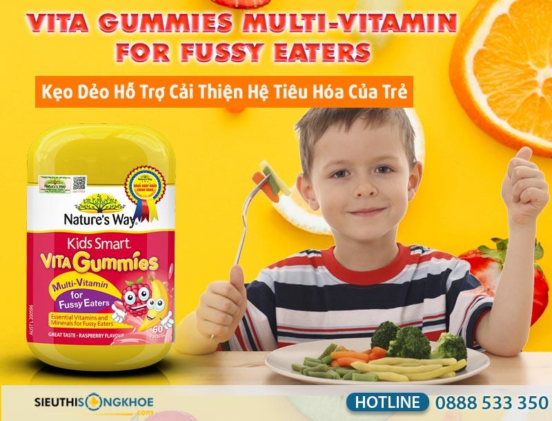 keo bo sung vitamin cho tre vita gummies multi - vitamin for fussy eaters.