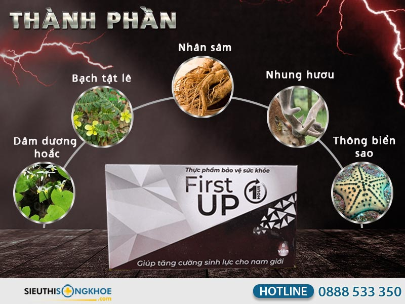 thanh phan vien tang sinh ly nam first up 1 hour