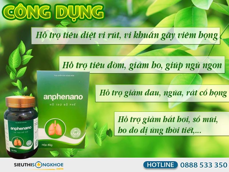 cong dung an phe nano