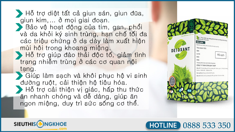 cong dung diet ky sinh trung detoxant