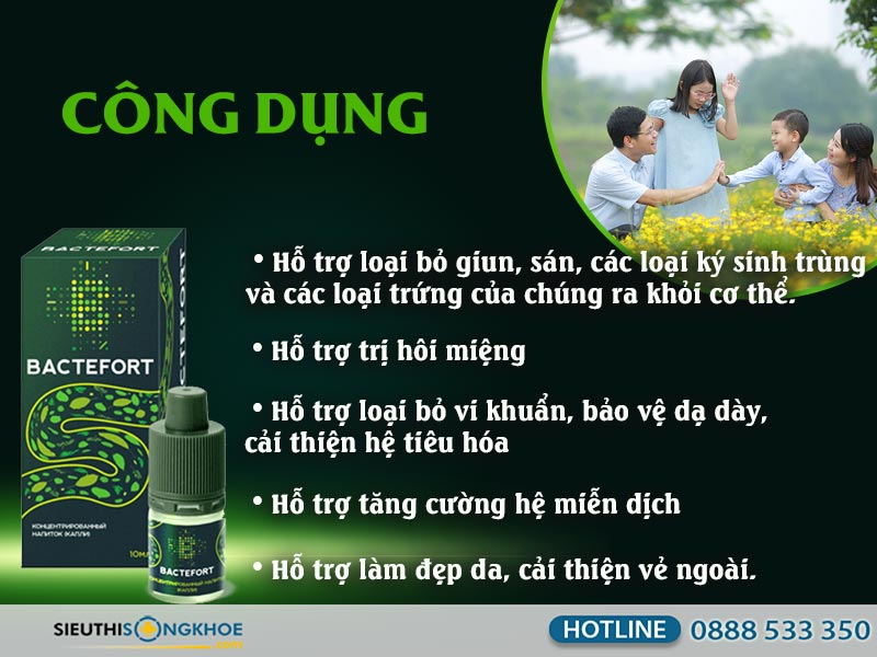 cong dung dung dich diet ky sinh trung bactefort