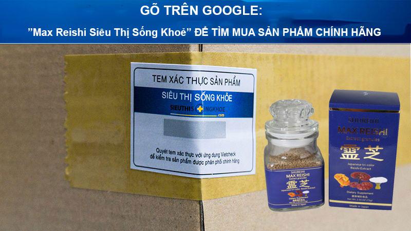 nam linh chi dang bot max reishi sieu thi song khoe