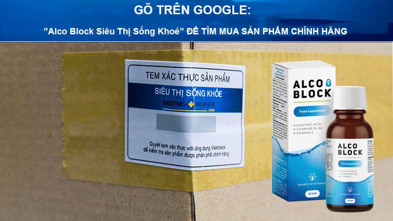 nuoc giai doc ruou alco block sieu thi song khoe