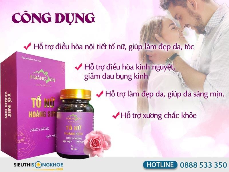 Tố Nữ Hoàng Sơn - Viên Uống Tăng Nội Tiết Tố, Ngừa Lão Hóa