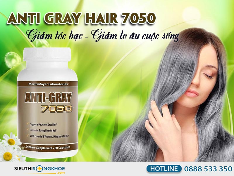 vien giam toc bac som anti gray hair 7050