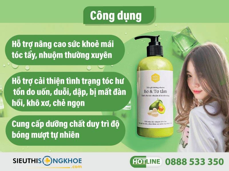 công dụng dầu gội dưỡng nhuộm mộc nhu
