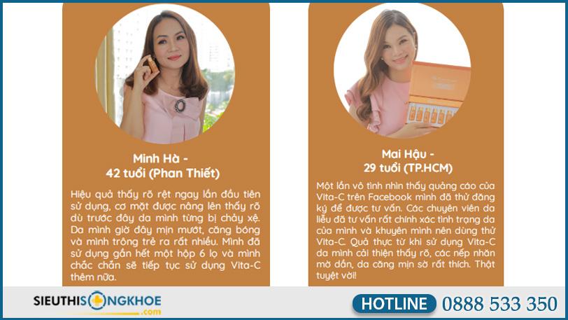 phan hoi khach hang ve tinh chat sang da vita c