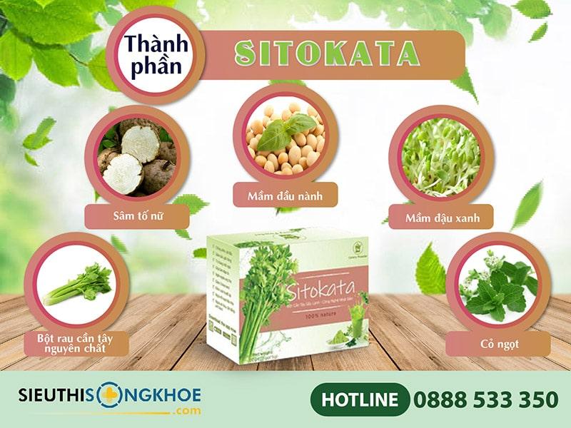 thành phần bột cần tây sitokata