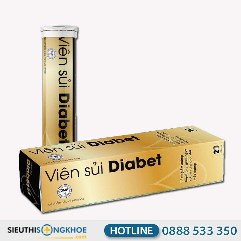 Viên Sủi Diabet - Hỗ Trợ Điều Trị Bệnh Tiểu Đường