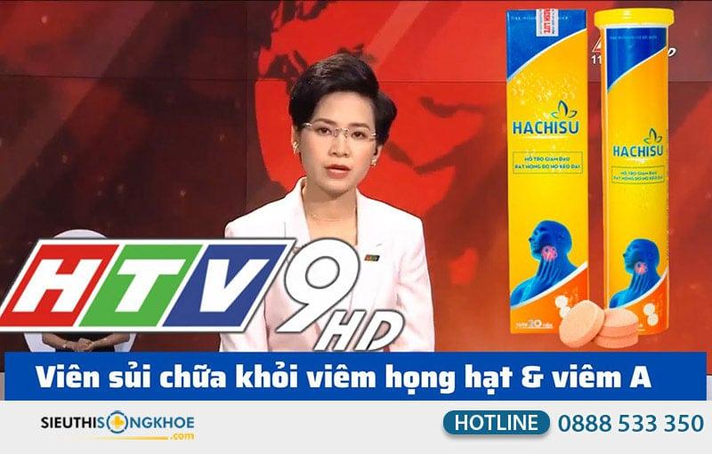 viên sủi hachisu trên đài truyền hình htv