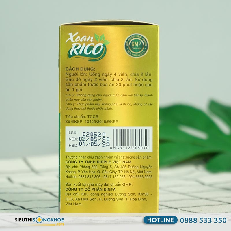 Xoan Rico - Viên Uống Hỗ Trợ Thông Mũi, Thông Xoang
