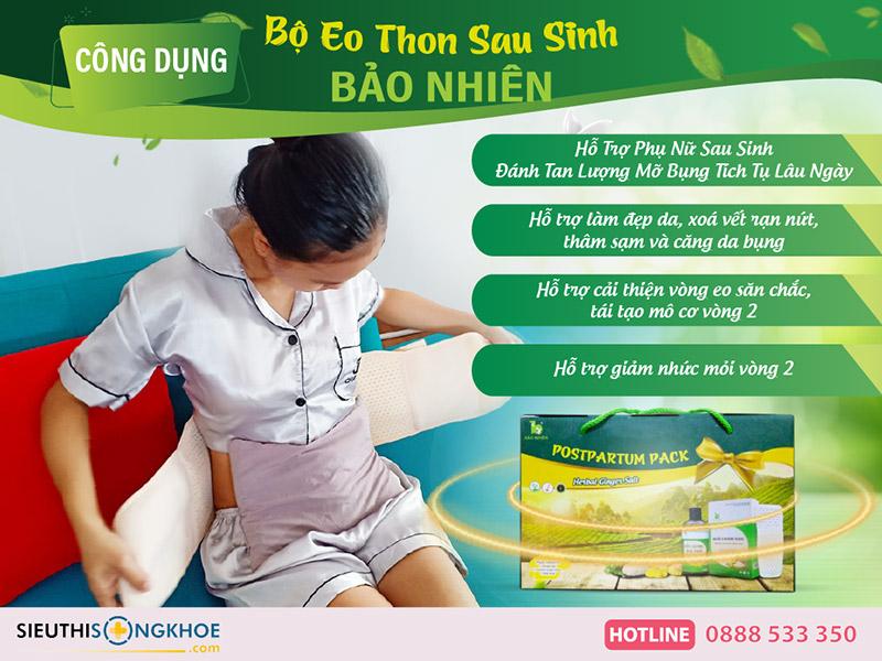 công dụng bộ eo thon sau sinh bảo nhiên