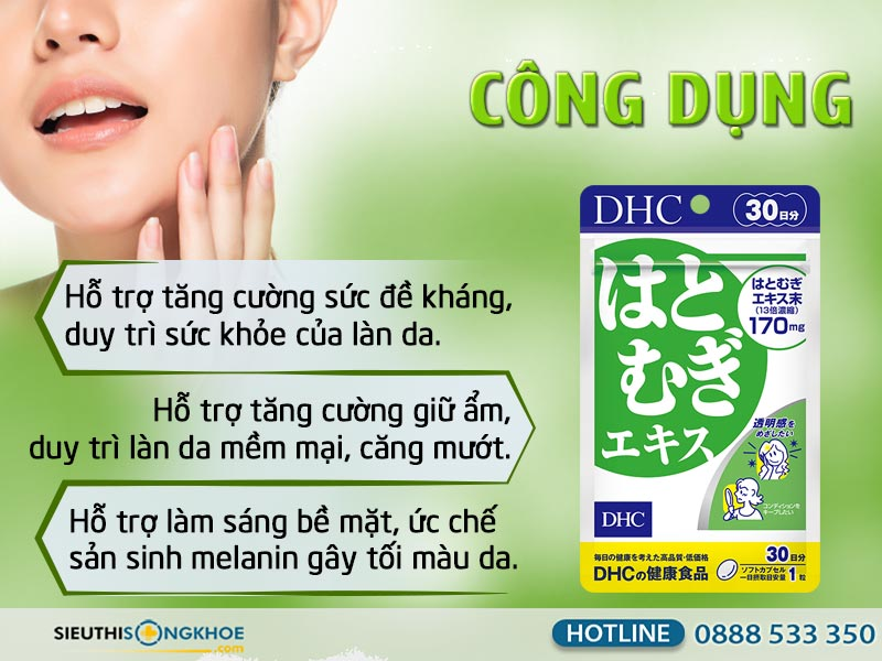 công dụng của dhc adlay extract