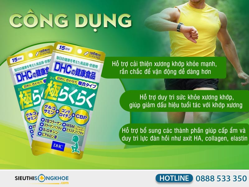 công dụng của dhc the ultimate joint health