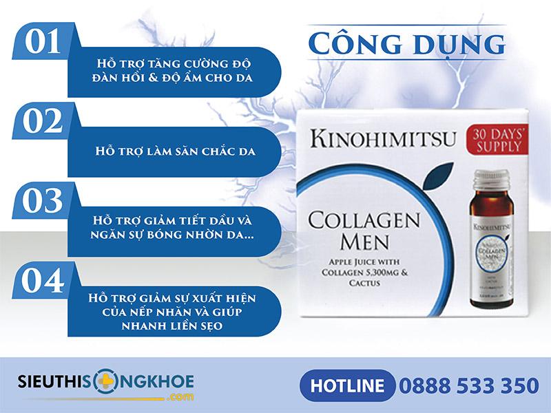 công dụng của kinohimitsu collagen men