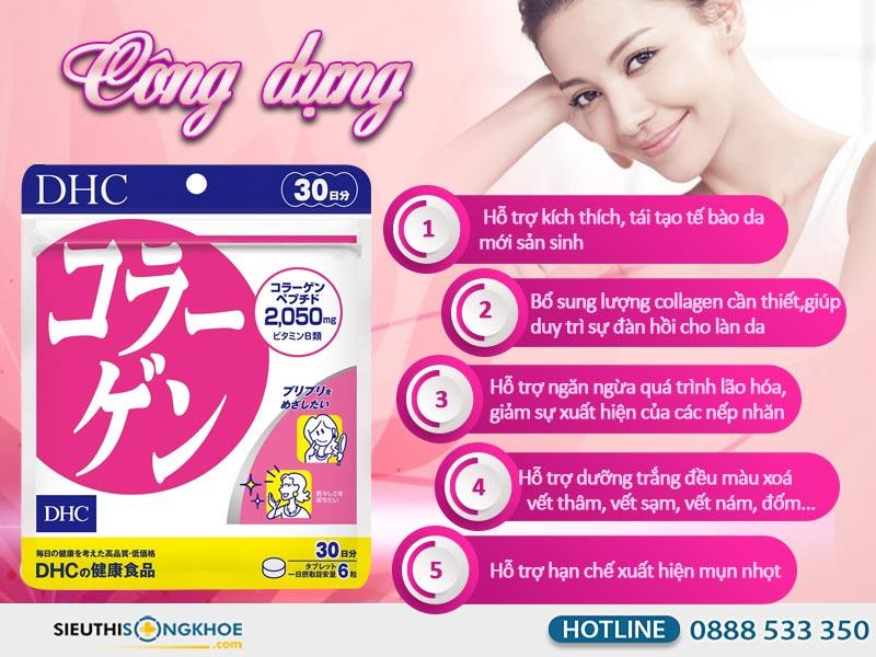 công dụng dhc collagen 30days
