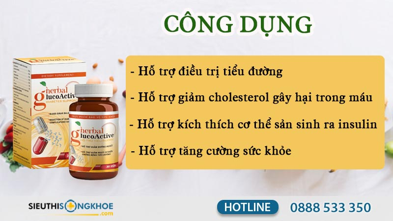 Herbal Glucoactive công dụng