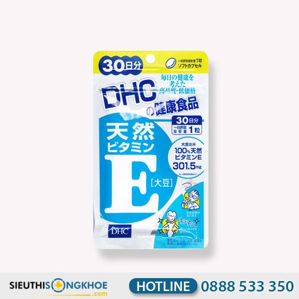 DHC Vitamin E Soybean 30 Days - Viên Uống Dưỡng Da Đều Màu Mịn Màng