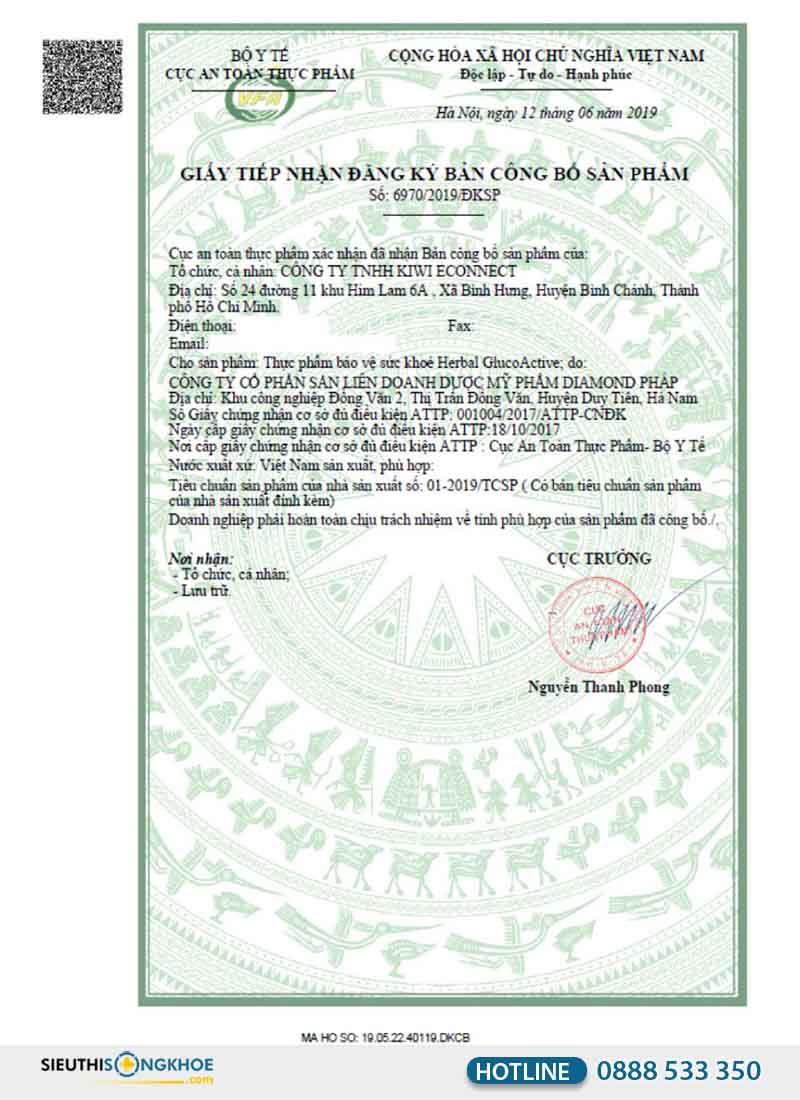 giấy chứng nhận sản phẩm