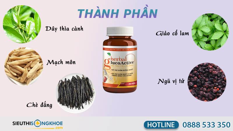 herbal glucoactive thành phần