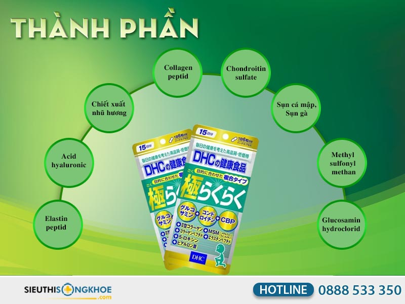 thành phần của dhc the ultimate joint health