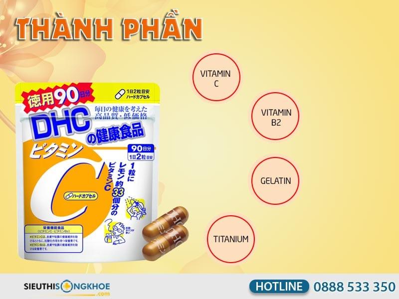 thành phần của dhc vitamin c