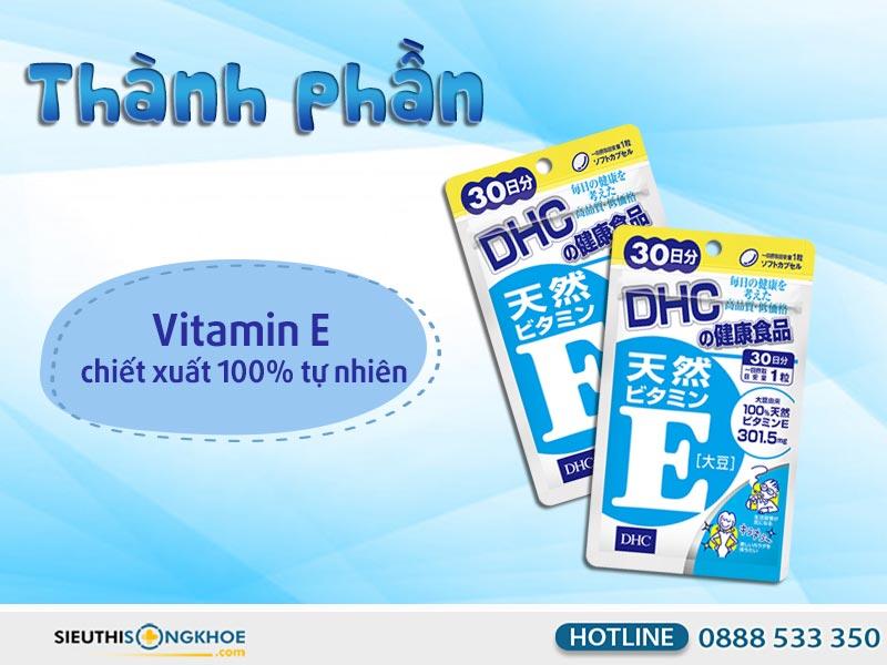 thành phần của dhc vitamin e soybean 30 days