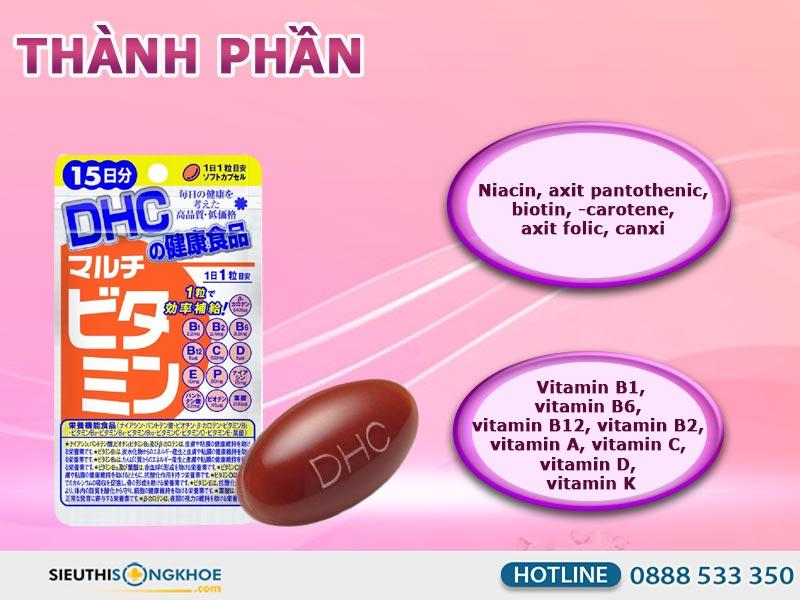 thành phần của dhc multi vitamins 15 days