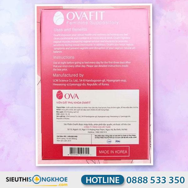Ovafit - Viên Đặt Hỗ Trợ Se Khít Vùng Kín & Điều Trị Viêm Nhiễm Phụ Khoa