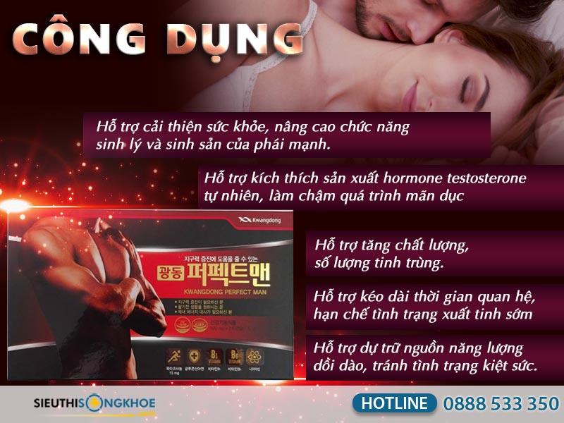 công dụng viên uống kwangdong perfect man