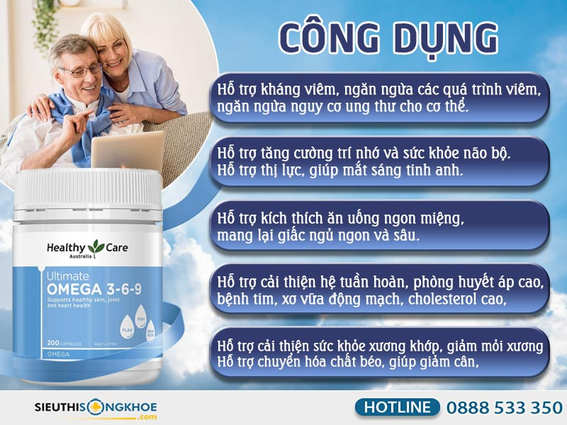 công dụng của omega 369 healthy care