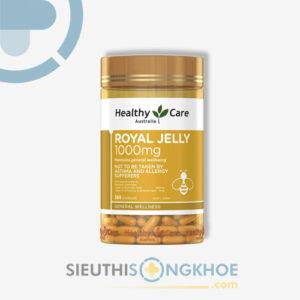 Healthy Care Royal Jelly 1000mg – Viên Uống Hỗ Trợ Cải Thiện Da & Sức Khoẻ